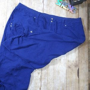 🌻& 4/25 sale! INC size 22 Blue Capri (B4)